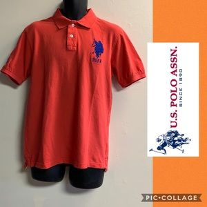 US POLO ASSN men's collared polo shirt big logo XL
